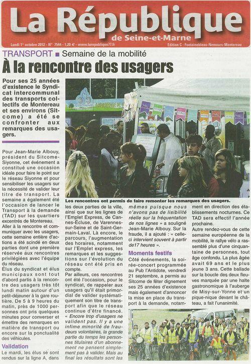Article de presse la republique rallye 2012