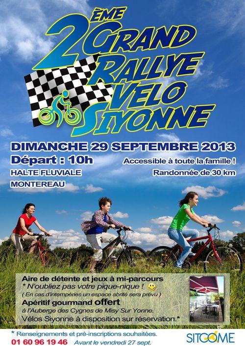 Affiche rallye velo sept 2013