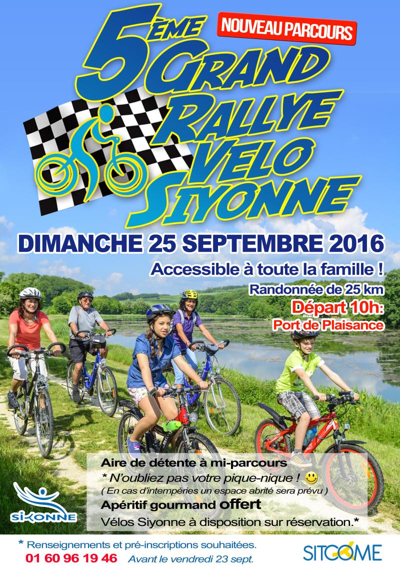 Affiche rallye velo sept 2016