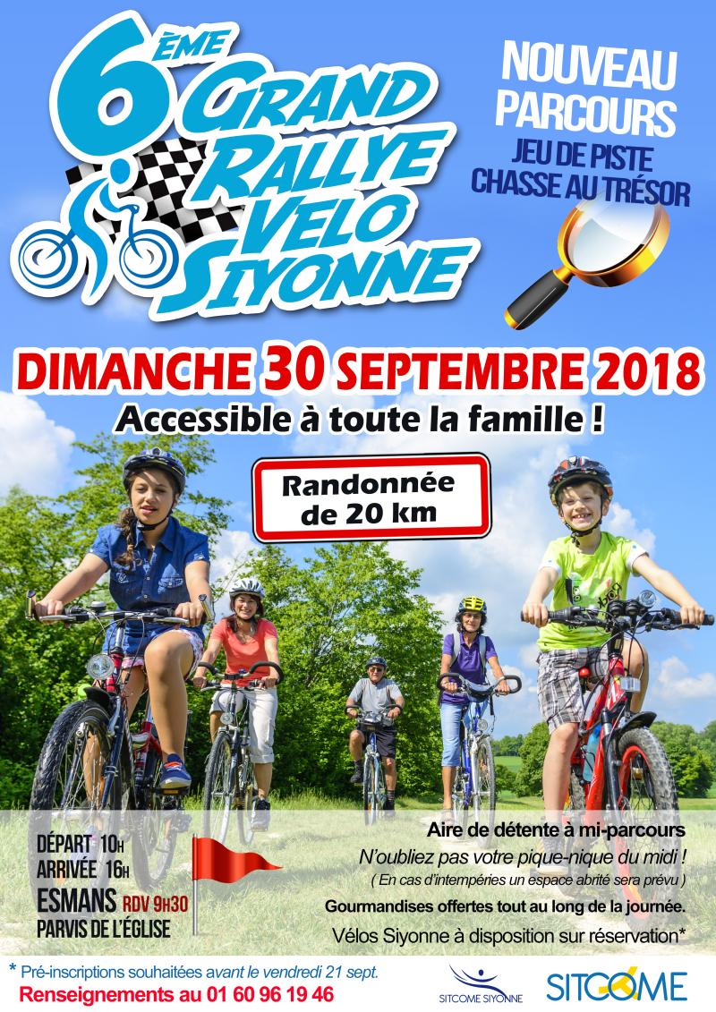 Affiche rallye velo sept 2018